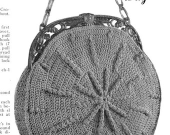 "Vintage Crochet Pattern 1930's Gimp Purse Pattern ""The Hy-lo"" -INSTANT DOWNLOAD-"