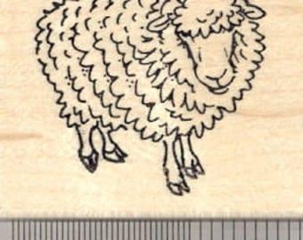 Sheep Rubber Stamp, Easter, Spring, Ewe, Lamb E24504 Wood Mounted