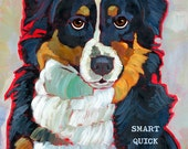Australian Shepherd No. 2 - magnets, coasters, blank notecards and art prints in four sizes