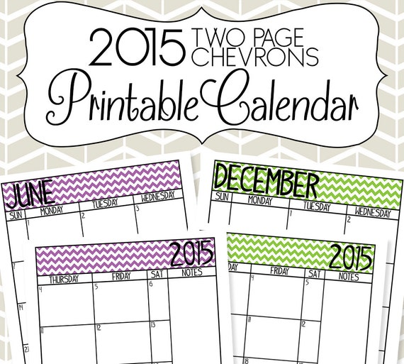 Printable Monthly Planner 2015: Items Similar To 2015 Calendar Printable