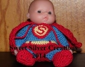 Crochet Pattern - 5.5 inch Berenguer/Lots to love/Itsy Bitsy Baby - Super Baby