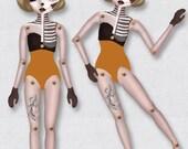 Lilian Halloween Paper Doll - téléchargement immédiat