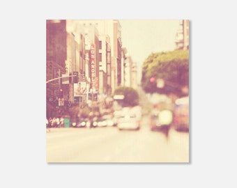 large Los Angeles photograph, Los Angeles canvas photo, downtown LA print, canvas wrap, dreamy photo, street photography