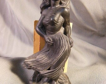 Reserved for melindaskeath - Vintage HULA DANCER made out of LAVA by Coco Joe Hawaii, 1960's