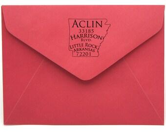 Arkansas Personalized Return Address State Stamp