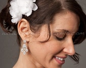 2 Piece Silk Bridal Flower, Available In White, Diamond White, Ivory, Blush Pink and More, Wedding Flower - Enya