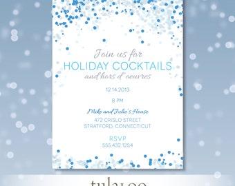"""Holiday Confetti Party Invitation - """"Rio"""""""