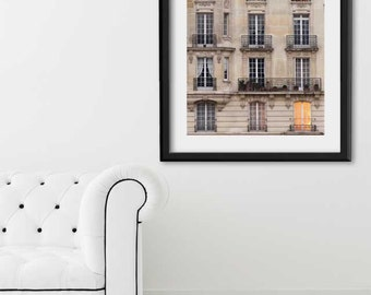 "Paris Print, ""Sunset Balconies"" Extra Large Wall Art, Paris Photography Art Print, Oversized Art, Fine Art Photography Paris Decor"
