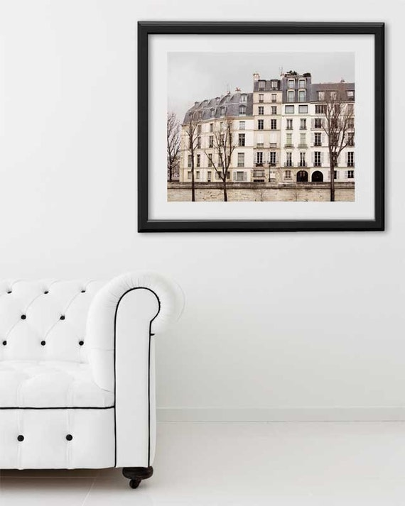 "Paris Print, ""Quai"" Extra Large Wall Art, Paris Photography Art Print, Oversized Art, Fine Art Photography Paris Decor"