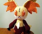 Delphox Inspired Cute Chibi Pokemon Crochet Plush Pattern PDF ON SALE!