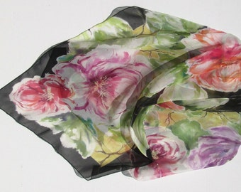 SUMMER PEONIES Silk Wrap