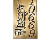 """Statue of Liberty, Lady Liberty, Freedom Address Plaque 8"""" W x 14"""" H by Atlas Signs and Plaques"""