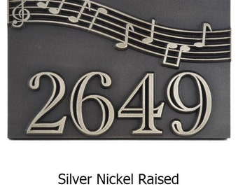 Musical Notation Notes Name or Address Plaque Home Numbers 12 x 8 inches