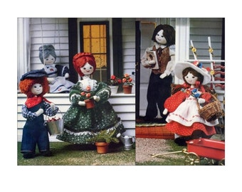 Dollhouse Family Sewing Pattern Miniature Bendy Dolls Vintage Cherished Dolls To Make For Fun Doll Pattern Craft Book with Other Cloth Dolls