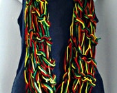 Arm Knitted Infinity Scarf Rasta Bright Blend