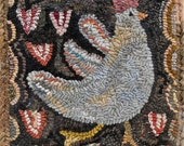 Tiptoe Thru The Tulips Pattern PDF for rug hooking and punchneedle embroidery