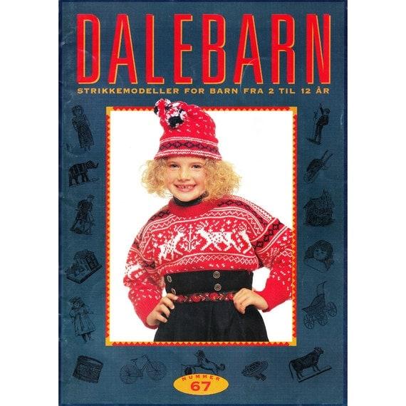 Dale of Norway Dalebarn 67 Knitting Pattern Book Sweaters