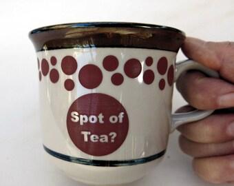 Ceramic Spot of Tea Upcycled Mug 6 Oz