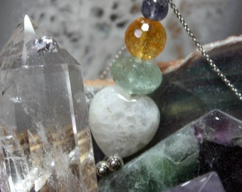 Talisman, Intuition Talisman, Sacred Intentions Necklace, Intuition Stones
