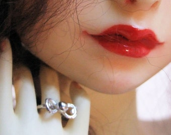Sterling silver BJD Ring with a little bow - custom -