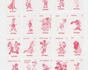 Vintage Disney Matchbox Labels Cool Graphics Set of 20 Mickey Donald Goofy Etc