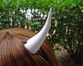 Bright White Devil Horns Costume Accessory