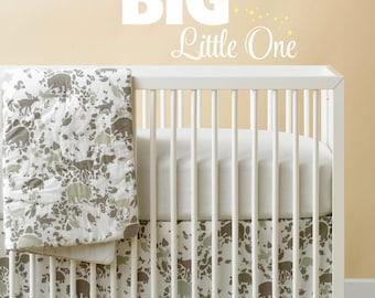 Dream Big Little One Vinyl Wall Lettering - Dream Wall Decal - Baby Boy Baby Girl Wall Art - Dream vinyl lettering - BONUS stars