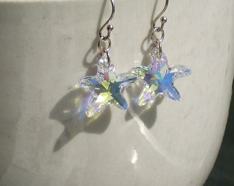Vintage Crystal Star Earrings