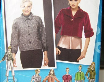 Simplicity 2858 Women's Pattern - Project Runway Women's Fashion Jacket with Collar and Sleeve Variations, Plus Size 12 - 20 Fashion Pattern
