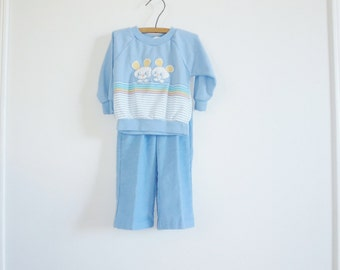Vintage Baby Boys Mouse Outfit