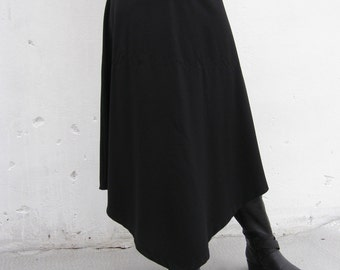 SALE - Black Triangular Skirt-2 Way Skirt-maxi Skirt-a Shape Skirt-long Skirt-convertible Skirt