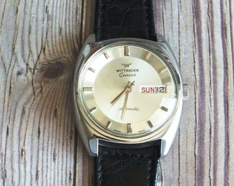 Vintage Wittnauer Geneve Automatic Wrist Wacth by avintageobsession on etsy