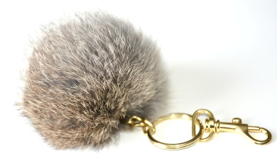 porte clef clip pour sac a main en fourrure de par. Black Bedroom Furniture Sets. Home Design Ideas