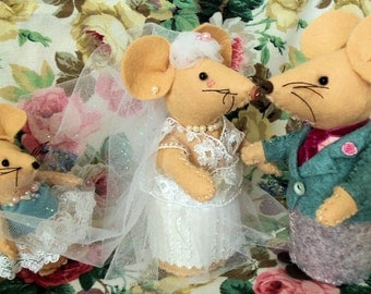 Little Mouse Softies - The Wedding Party pdf pattern instant download