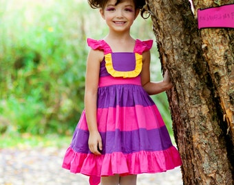 Cheshire Cat - Character Inspired Dress - Alice in Wonderland - Sizes 12/18months through 9/10
