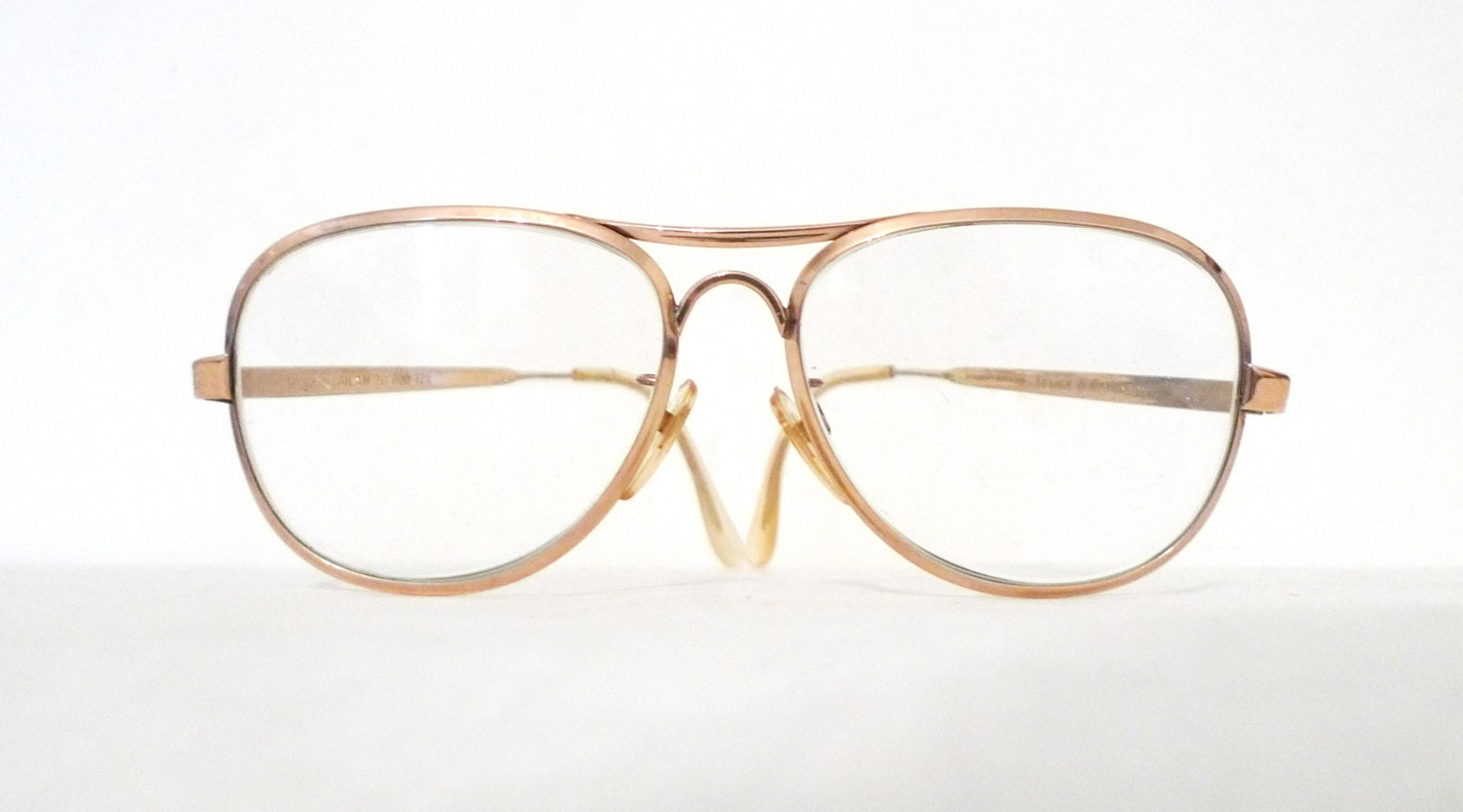 VTG 12K Gold Filled Aviators 60s 70s Gold Aviator Eyeglasses