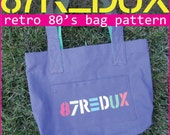 87Redux Canvas Tote Bag Pattern - Inspired by Vintage Esprit Bags of the 80's - PDF Download