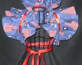 Ready to ship  handmade bolero wrap shrug Cosplay patriotic party