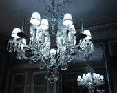 Paris Chandelier Photograph, Sparkling Crystal Chandelier, Laduree French Chandelier Decor, Paris Romantic Chandelier, Paris Chandelier Art