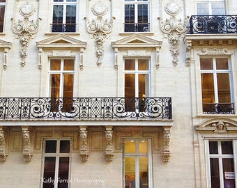 Paris Photography, Paris Balcony Window Architecture, Paris Art Nouveau Prints, Paris Wall Art Prints, Paris Winter White, Paris Buildings
