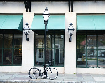 Charleston Photography, Bicycle Art Charleston Aqua Teal Architecture, Charleston Bicycle Photography, Charleston Fine Art Photography