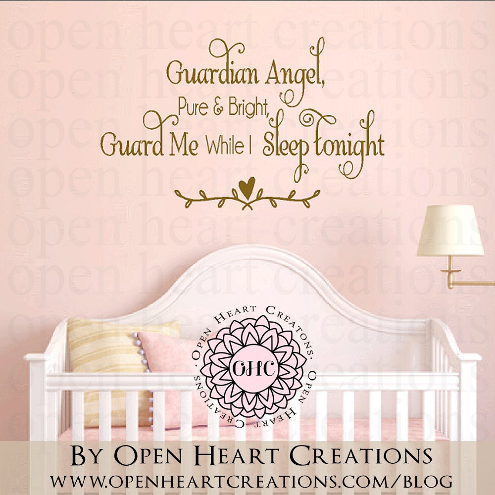 Baby Guardian Angel Quotes: Guardian Angel Pure And Bright Wall Decal Baby Nursery