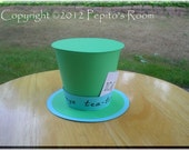 Alice In Wonderland Top Hat Centerpiece - Color Printable PDF- Mad Hatter - PR