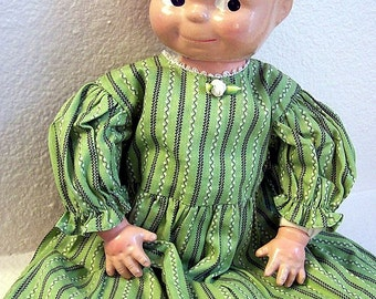 Kewpie Composition Head & Hands on Cloth Body Vintage