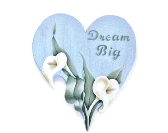 SALE | Hand Painted Calla Lily Heart Wall Hanging