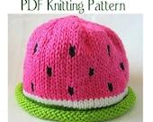 Watermelon Hat pattern, knit, Boston Beanies