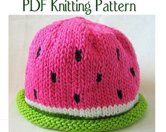 Watermelon Hat pattern, knit, Boston Beanies