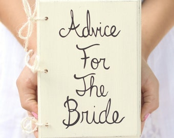 Bridal Shower Guest Advice Book Shabby Chic Wedding Decor (Item Number MHD20096)