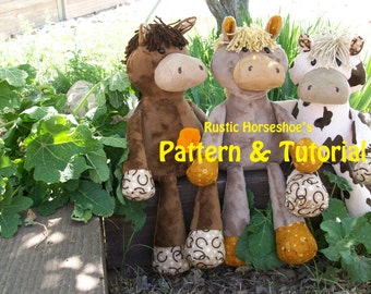 Rustic Horseshoe Original Nutty Nag Plush Horse Plush Sewing Pattern and Tutorial