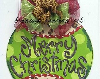 Cheetah Ornament Door Hanger - Bronwyn Hanahan Art